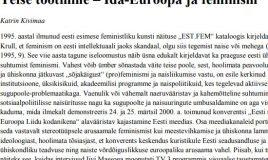 Teise tootmine – Ida-Euroopa ja feminism