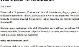 Kas Eestis on feminismi?
