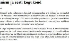 Feminism ja Eesti kogukond