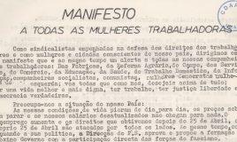 Manifesto : a todas as mulheres trabalhadoras