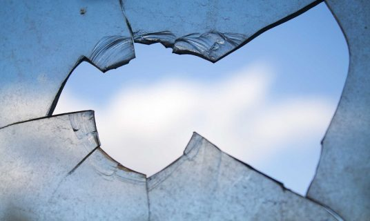breaking glass to break the circle of violence against women
