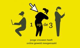 infographic 1 op de 3 jonge vrouwen heeft online geweld meegemaakt