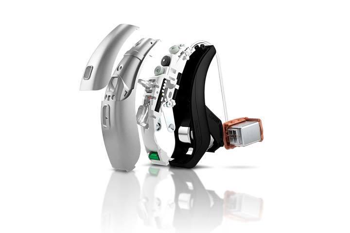 Wnętrze aparatu słuchowego