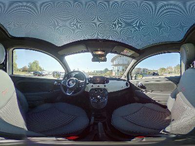 360° Innenansicht Fiat 500      120 Klimaautomatik/ALU/U-Connect