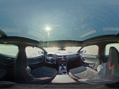 360° Innenansicht Skoda Octavia Combi RS      2.0 TSI DSG 245 ACC DCC Columbus Pano uvm