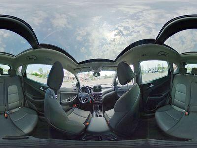 360° Innenansicht Hyundai Tucson      Face DCT Voll-LED KlimAuto Navi Kamera Pano DAB