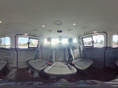 360° Innenansicht Ford Tourneo Custom Bus M1      L2 185 Titanium X 8 Sit. Klima Park Assistent Totwinkel Temp SHZ LMF Kamera NAVI Xenon Leder AHK 230V