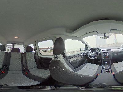 360° Innenansicht Volkswagen Caddy      Trendline Klima Allwetter Umklappbarer Beifahrersitz