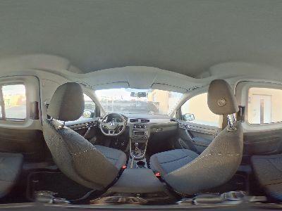 360° Innenansicht Volkswagen Caddy      Trendline SOFORT Klima PDC Dachreling Allwetter