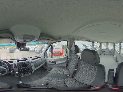 Mercedes-Benz Sprinter 316 d BlueTec Lang Kombi verglast 3-Sitzer Navigation Bi-Xenon 7G-Tronic Plus Sitzheizung Warmluft-Zusatzheizung COLLISION Prevention ASSIST Totwinkel Seitenwind Spurhalte Assistent Fahrassistenz Paket