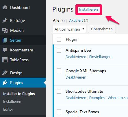 Tablepress: einfache Erstellung von Tabellen in Wordpress