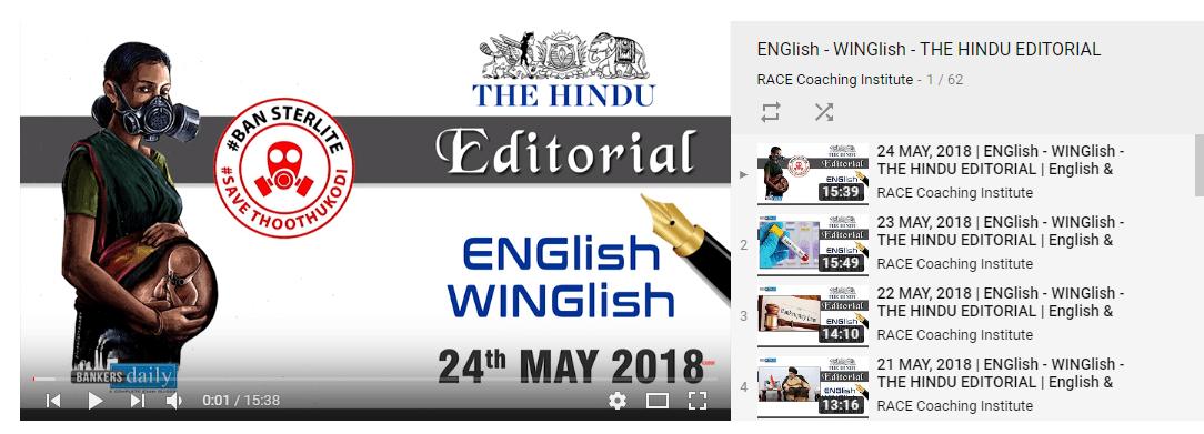 THE HINDU EDITORIAL : MAY 25, 2018 -