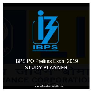 TARGET IBPS PO Prelims 2019 – 45 Days Study Planner -