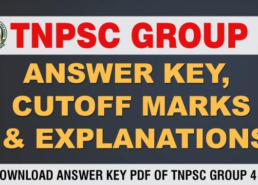 Check TNPSC Group IV Prelims – Answer Key (Pothu Tamil
