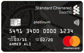 STANDARD CHARTERED Saadiq Platinum Murabaha Card