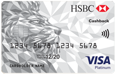 HSBC Visa Platinum Cashback Card