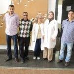 Lo staff del museo archeologico di Rabat (Marocco).