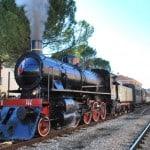 Treno a vapore presso la stazione di Tolentino