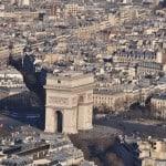 Arco di trionfo dalla torre Eiffel