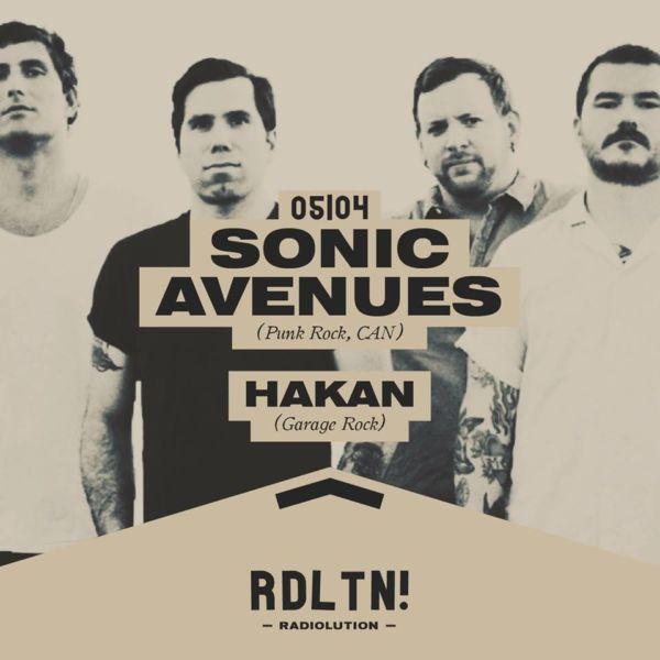 Radiolution: Sonic Avenues + Hakan, mercoledì 5 aprile