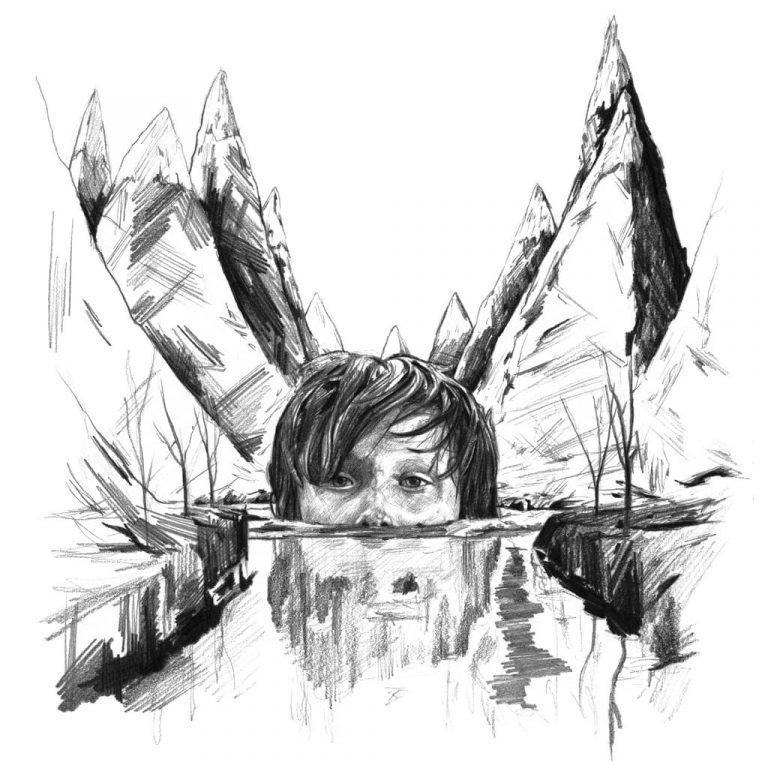 Retrato a lápiz de Max en Where the wild things are, de Spike Jonze
