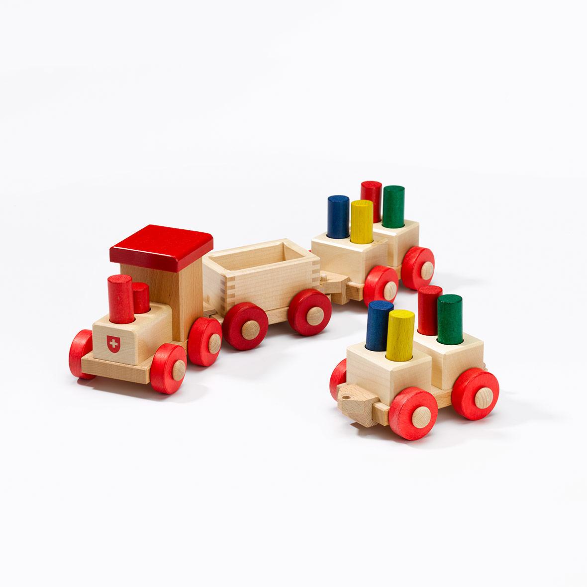 Sparkasse Tschu Tschu, Holz-Lokomotive