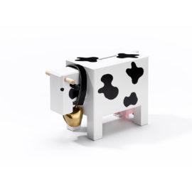 Sparkasse Kuh weiss-schwarz