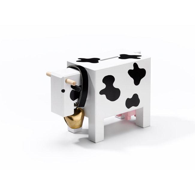 Sparkasse Kuh, schwarz weiss