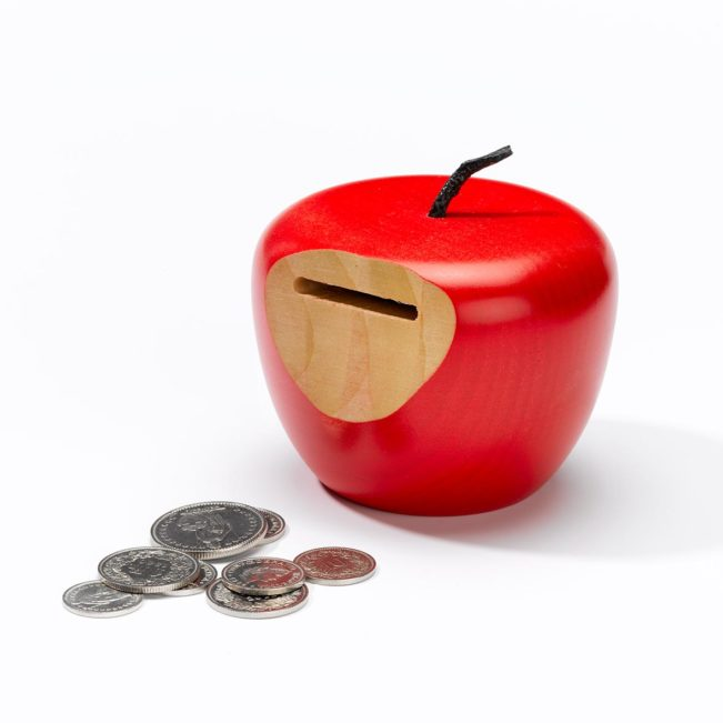 Sparkasse Apfel, rot