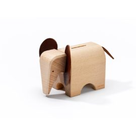 Sparkasse Elefant Buchenholz
