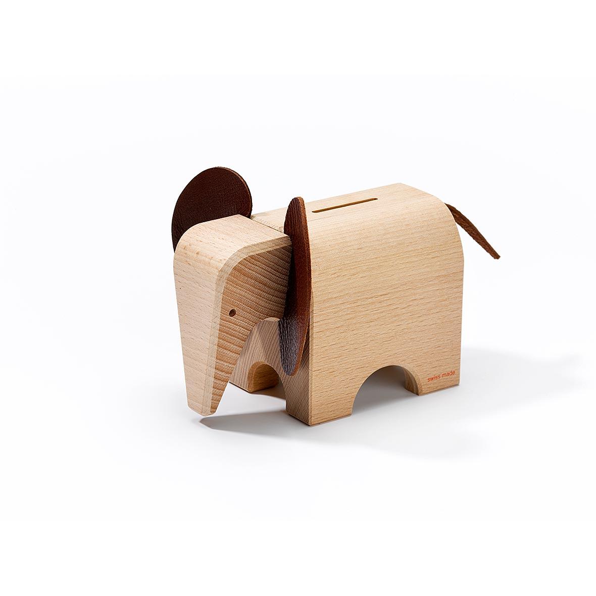 Sparkasse Elefant, Buchenholz