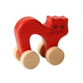 Katze auf Rädern