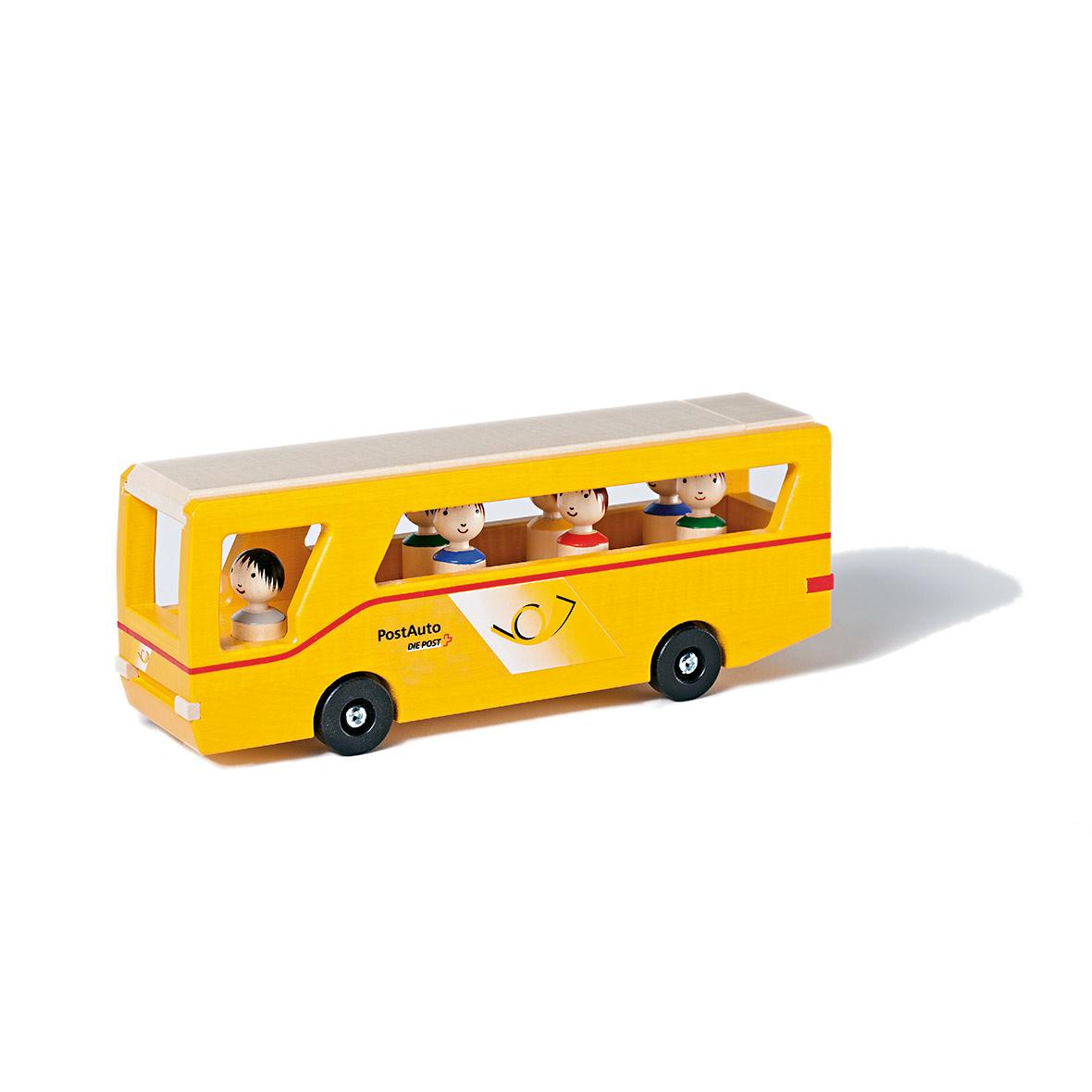 Kinderspielzeug Postauto mit Figuren, Holz