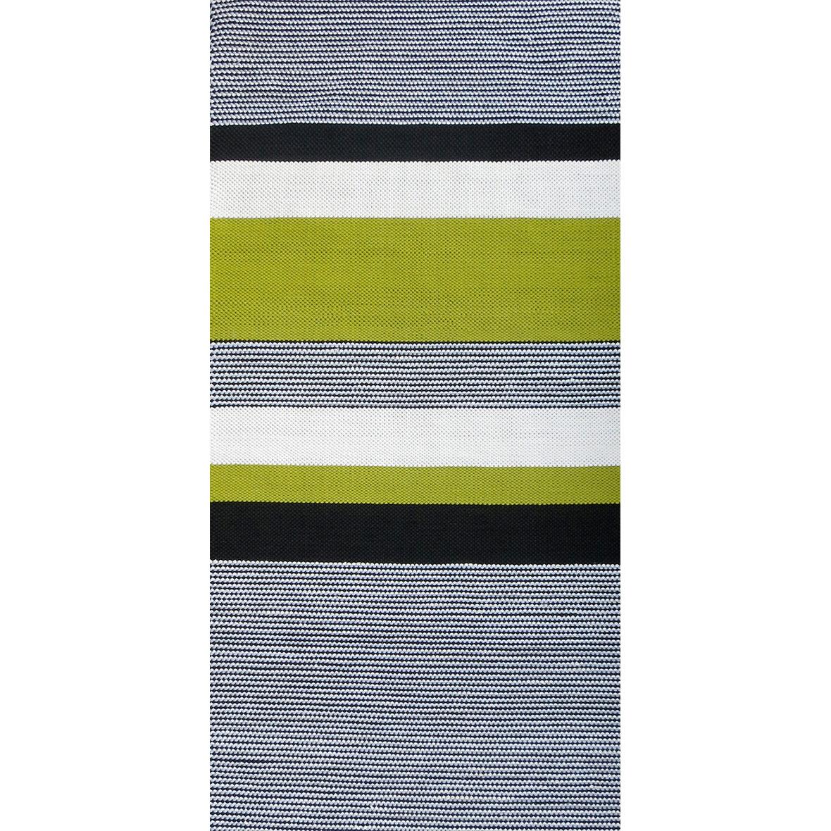 Teppich, handgeknüpft, Anna Saarinen, Mona, schwarz weiss grün