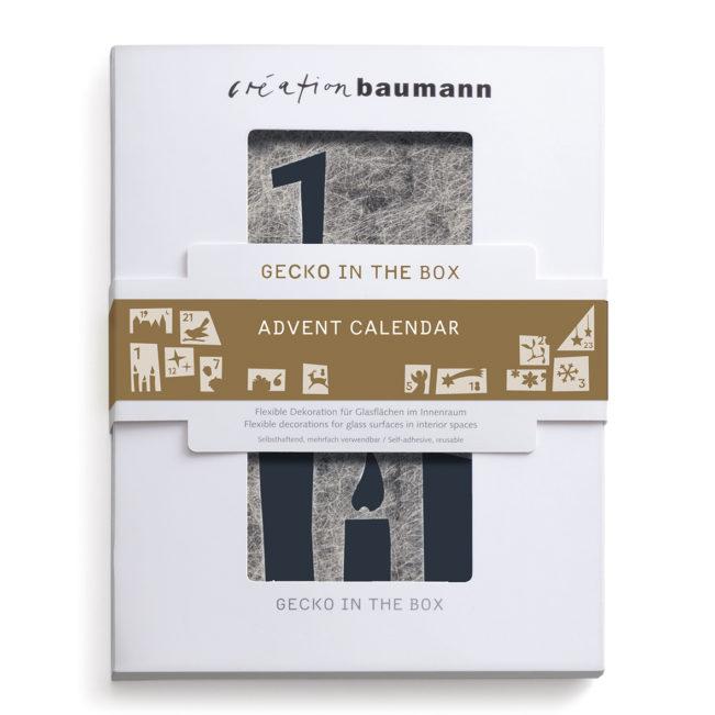 Fenstersticker Gecko in the Box Advent Calendar verpackt
