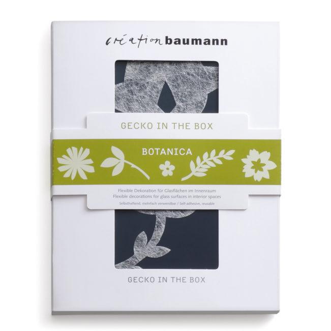 Fenstersticker Gecko in the Box Botanica verpackt