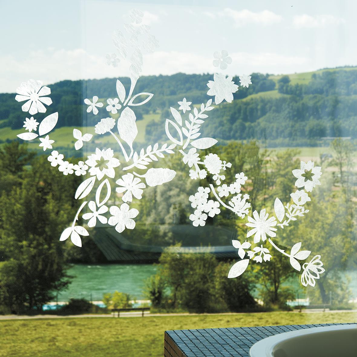 Fenstersticker Gecko Botanica
