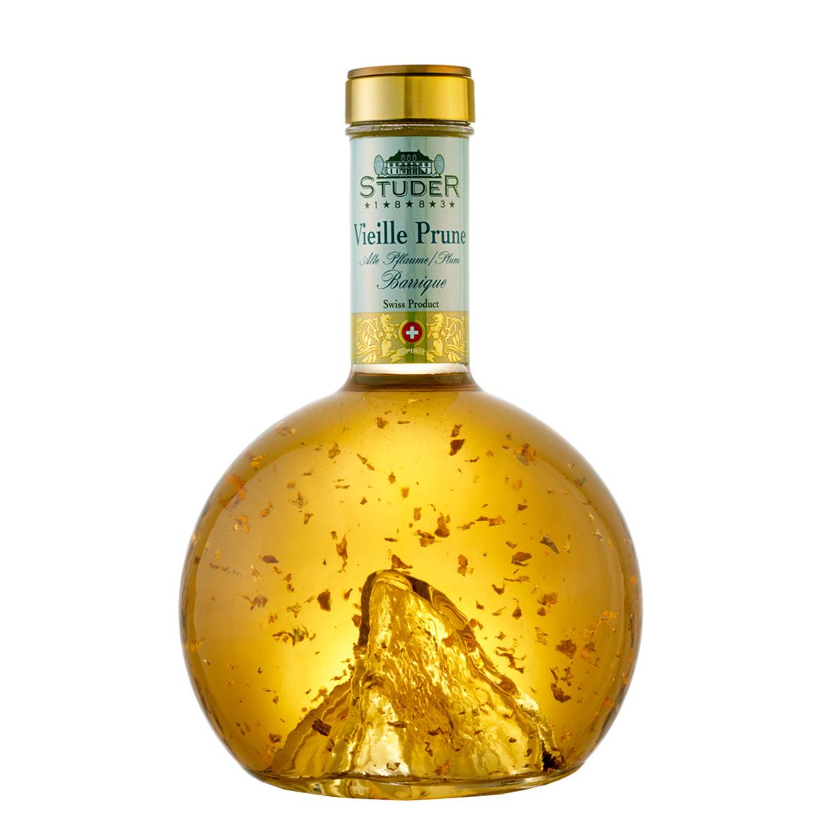 Vieille Prune Barrique mit Gold, Matterhorn, Studer