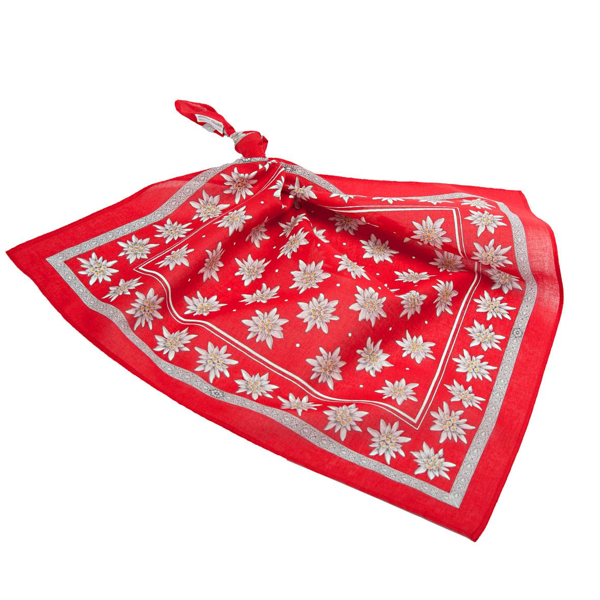 Glarner Tüechli Edelweiss Rot
