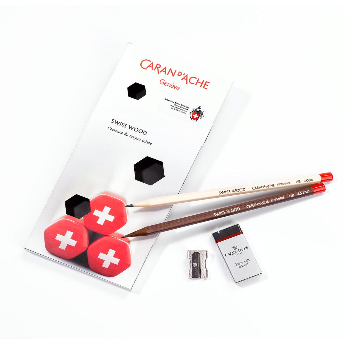 Caran d'Ache Geschenkset Swiss Wood, SAC