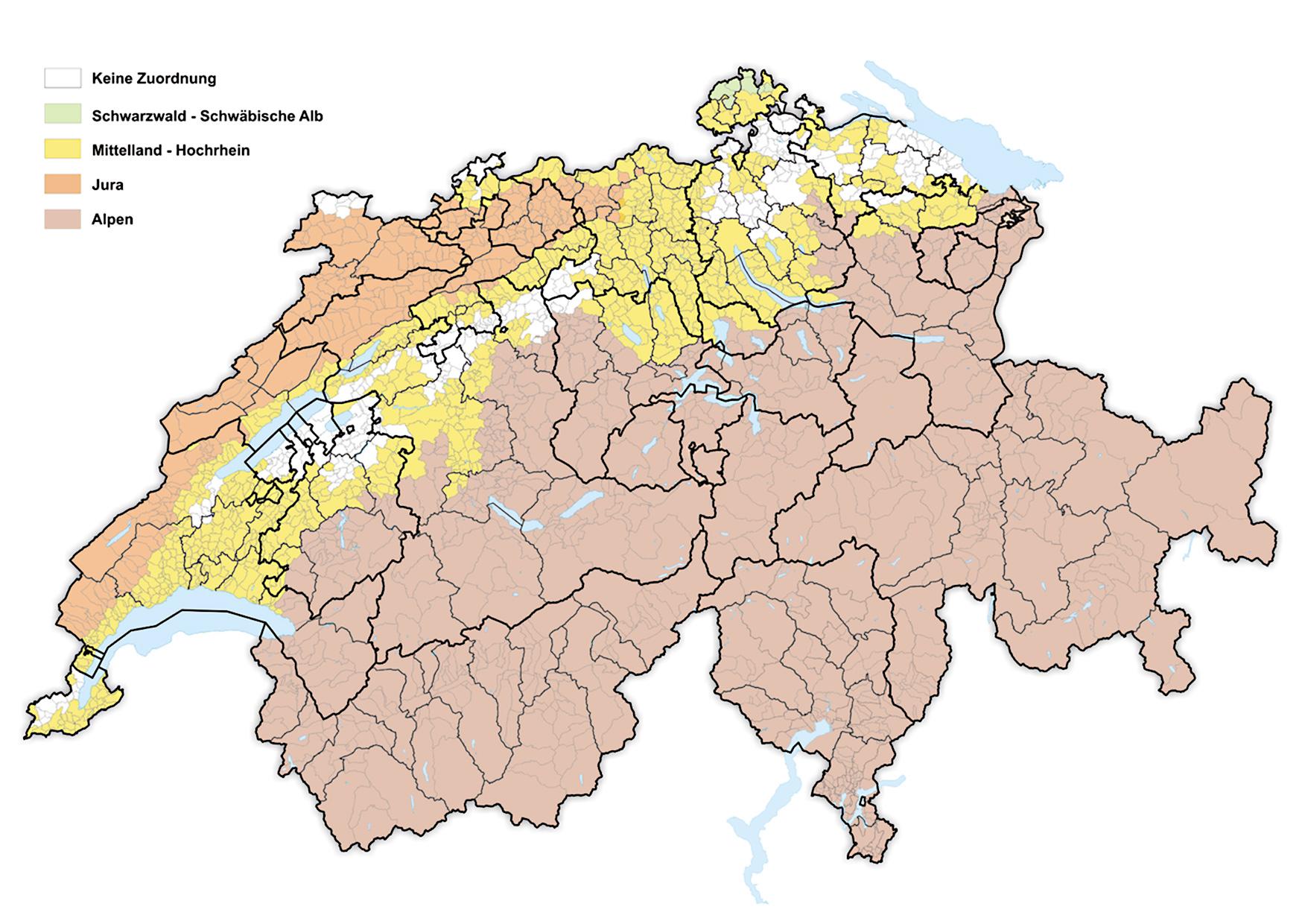 Schweizer Karte – Vom Sempacherkrieg bis zum Jura | Bestswiss - Deutschland Und Schweiz Karte