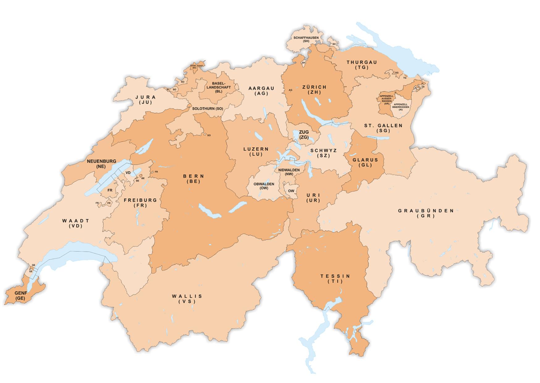 Freiburg Schweiz Karte.Schweizer Karte Vom Sempacherkrieg Bis Zum Jura Bestswiss