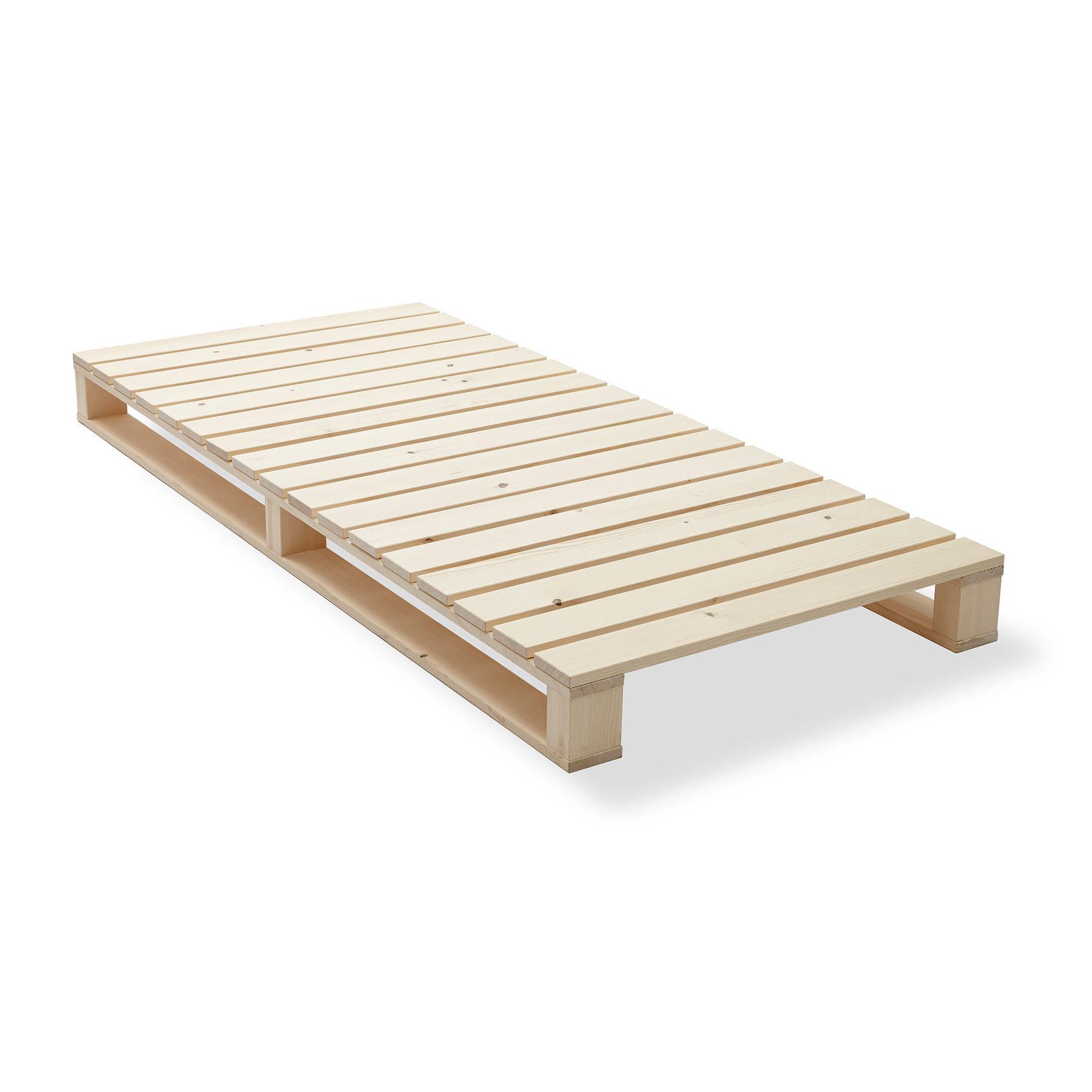 5-Minuten Bett von Contact Holz und Textil, 90 cm