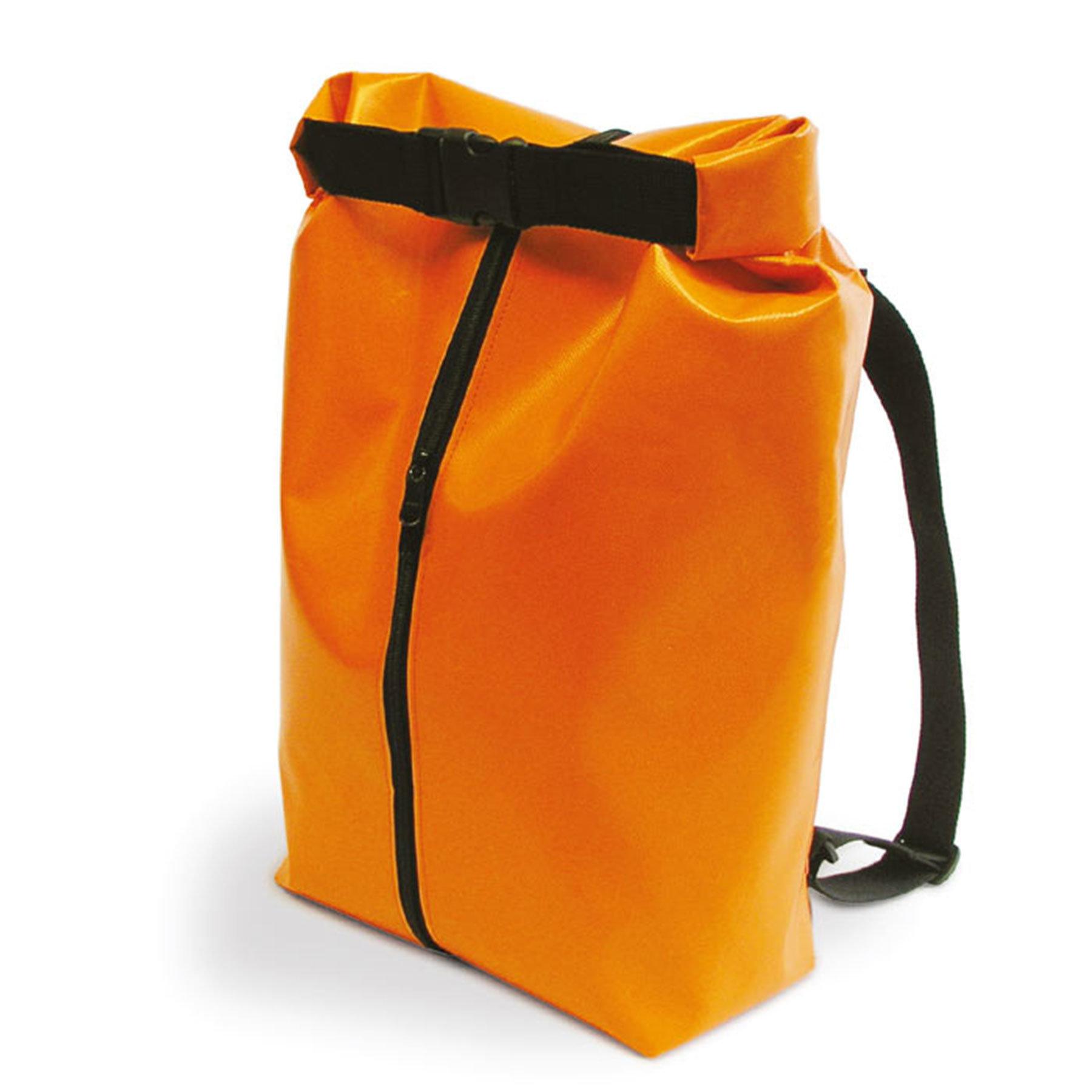 Kuriertasche von Contact Holz und Textil, orange