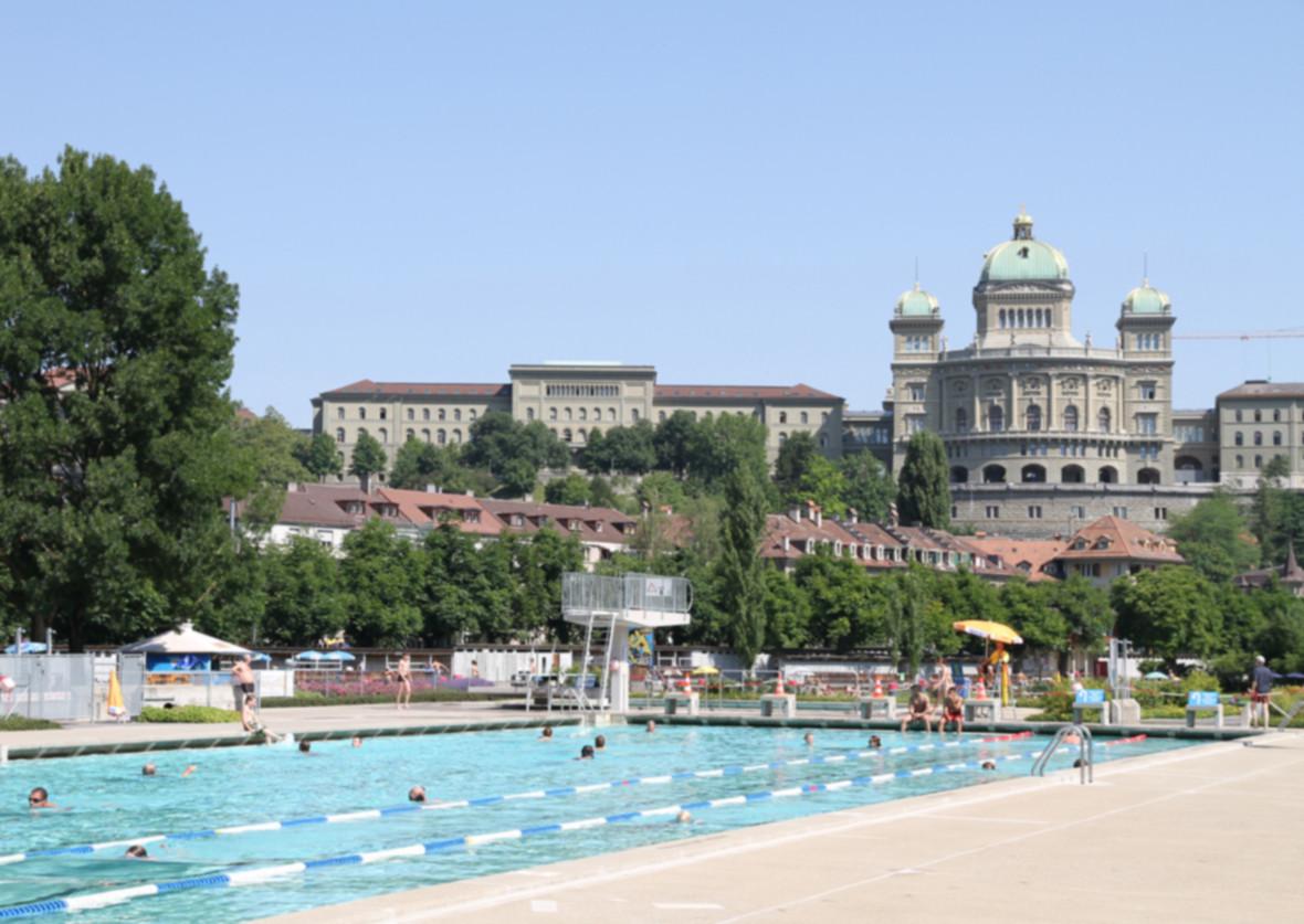 Schwimmbad Marzili an der Berner Aare
