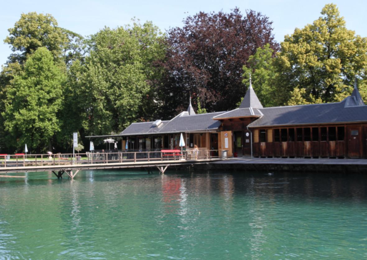 Schwimmbad: Flussbad Schwäbis in Thun
