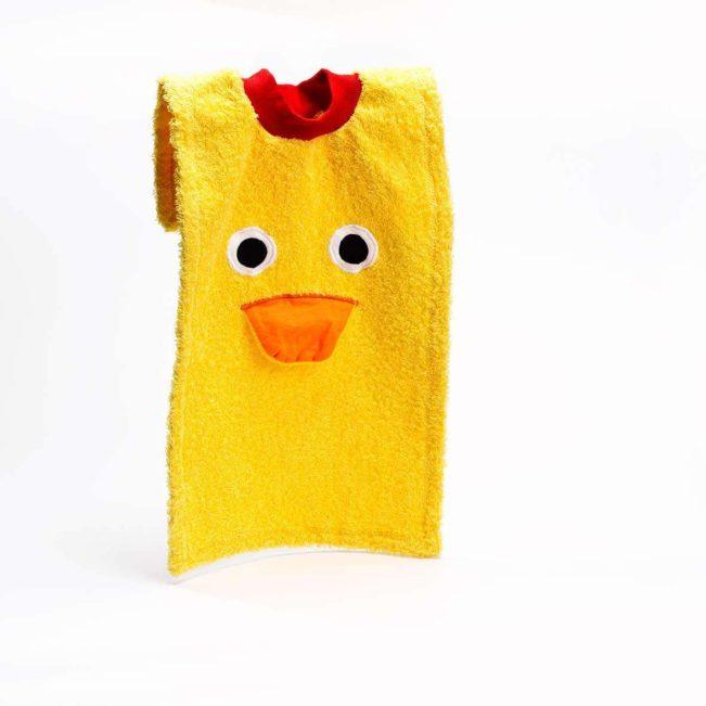 Esslatz Ente von Contact Arbeit Holz + Textil, gelb