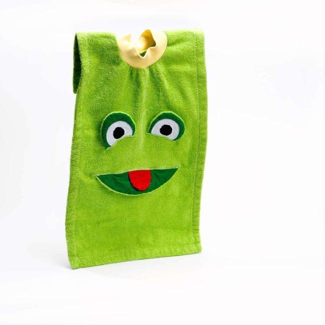 Esslatz Frosch von Contact Arbeit Holz + Textil, grün