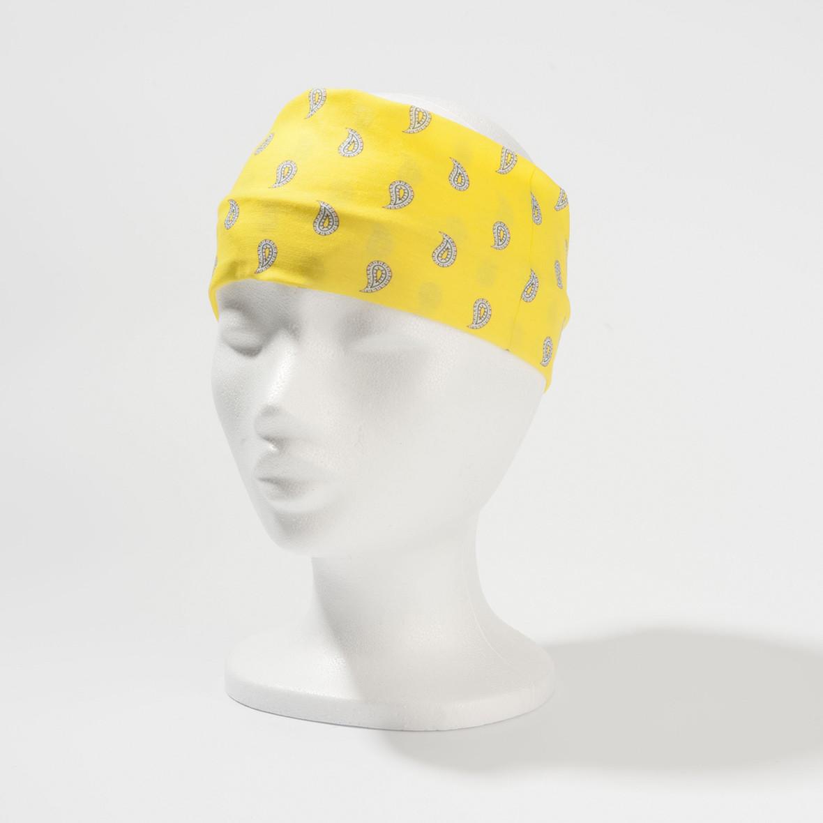Stirnband Paisley Gelb