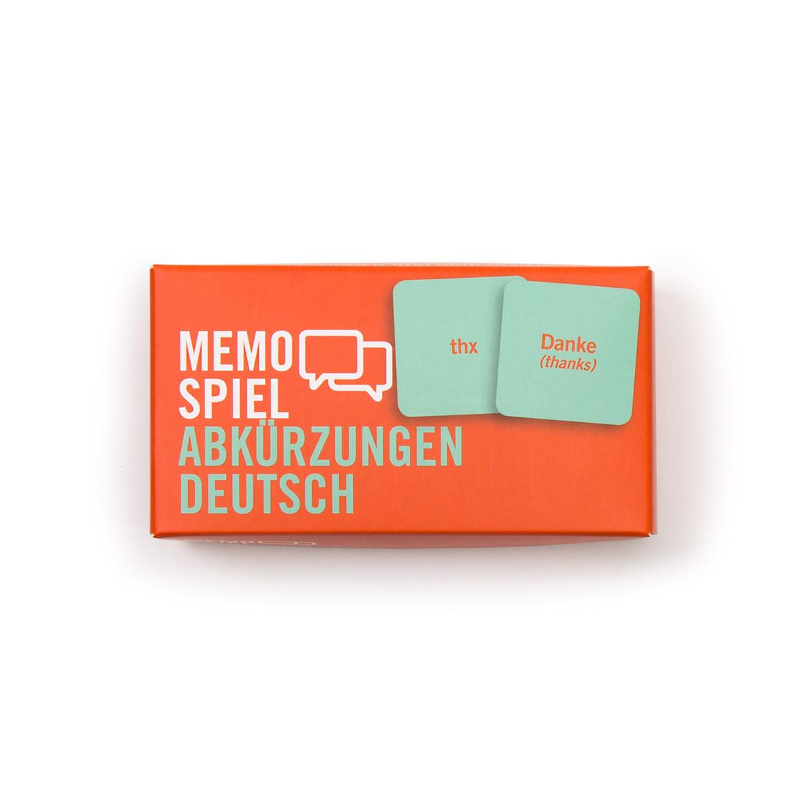 Memospiel Abkürzungen Deutsch
